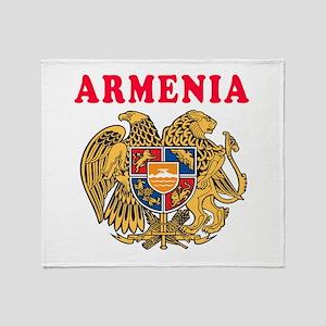 Armenia Coat Of Arms Designs Throw Blanket
