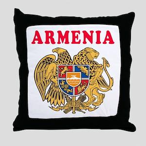 Armenia Coat Of Arms Designs Throw Pillow