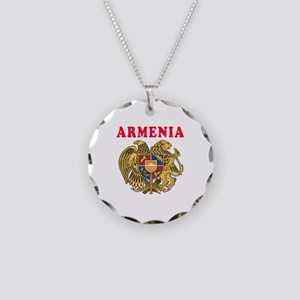 Armenia Coat Of Arms Designs Necklace Circle Charm