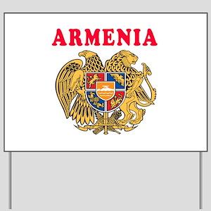Armenia Coat Of Arms Designs Yard Sign