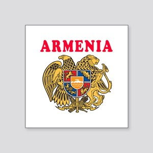 "Armenia Coat Of Arms Designs Square Sticker 3"" x 3"