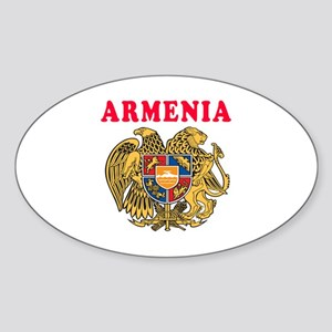 Armenia Coat Of Arms Designs Sticker (Oval)