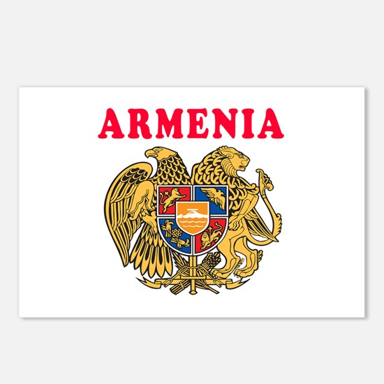Armenia Coat Of Arms Designs Postcards (Package of