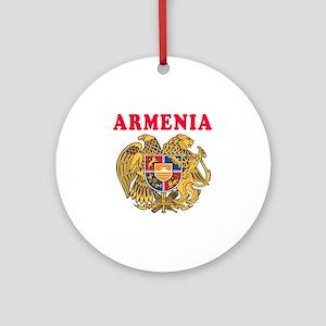 Armenia Coat Of Arms Designs Ornament (Round)
