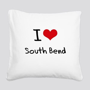 I Heart SOUTH BEND Square Canvas Pillow