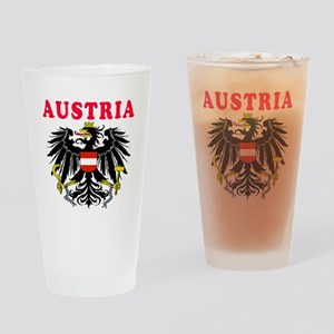 Austria Coat Of Arms Designs Drinking Glass