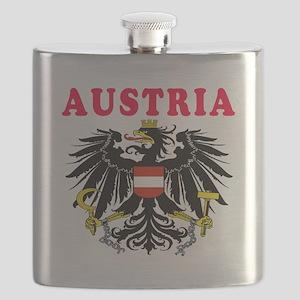 Austria Coat Of Arms Designs Flask