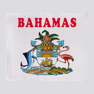 Bahamas Coat Of Arms Designs Throw Blanket