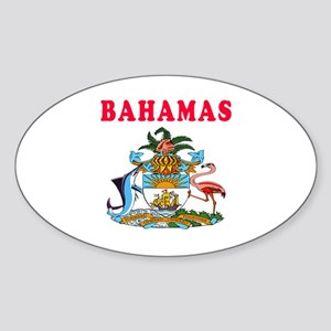 Bahamas Coat Of Arms Designs Sticker (Oval)