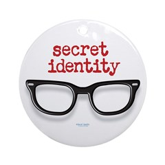 Secret Identity Ornament (Round)
