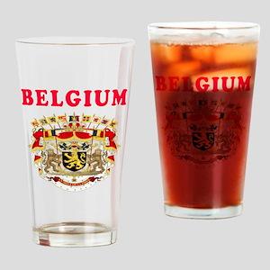 Belgium Coat Of Arms Designs Drinking Glass