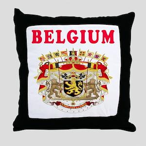 Belgium Coat Of Arms Designs Throw Pillow