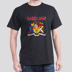 Barbados Coat Of Arms Designs Dark T-Shirt
