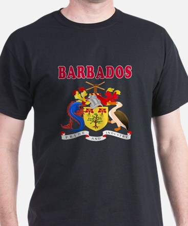 Barbados Coat Of Arms Designs T-Shirt
