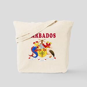 Barbados Coat Of Arms Designs Tote Bag