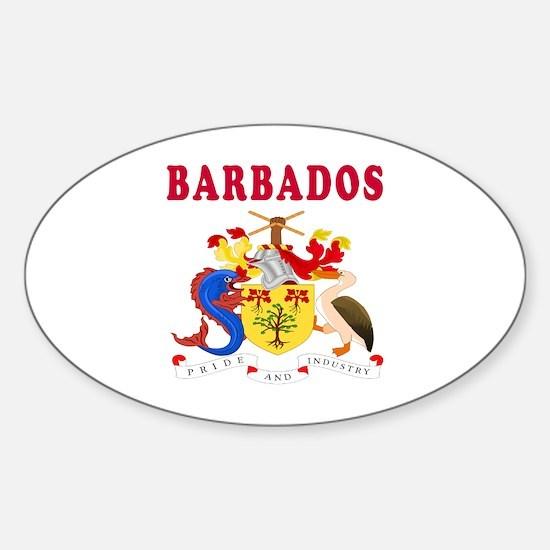 Barbados Coat Of Arms Designs Sticker (Oval)