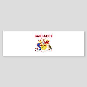 Barbados Coat Of Arms Designs Sticker (Bumper)