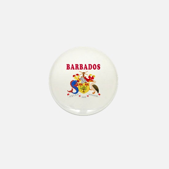 Barbados Coat Of Arms Designs Mini Button