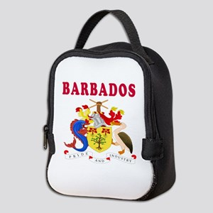Barbados Coat Of Arms Designs Neoprene Lunch Bag