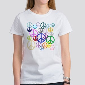 Peace Sign Collage Women's T-Shirt