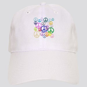 Peace Sign Collage Cap