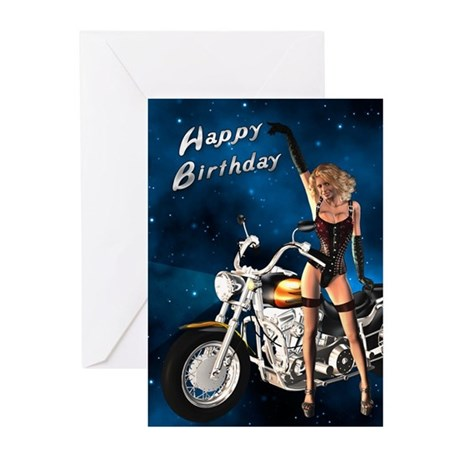 Birthday Card With A Sexy Biker Greeting Cards Pk By Supercards