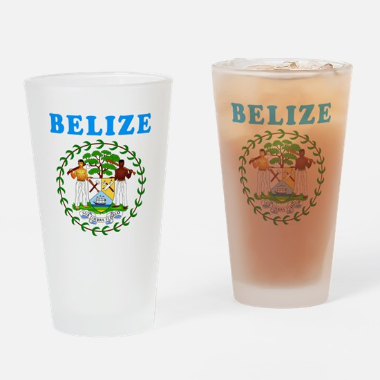 Belize Coat Of Arms Designs Drinking Glass