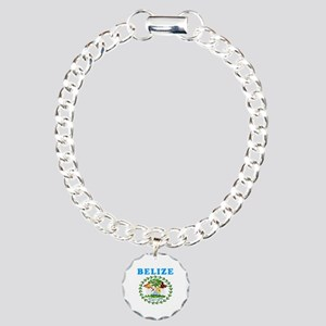 Belize Coat Of Arms Designs Charm Bracelet, One Ch