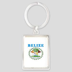 Belize Coat Of Arms Designs Portrait Keychain