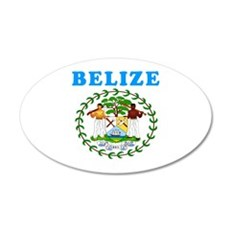 Belize Coat Of Arms Designs Wall Decal