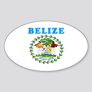 Belize Coat Of Arms Designs Sticker (Oval)