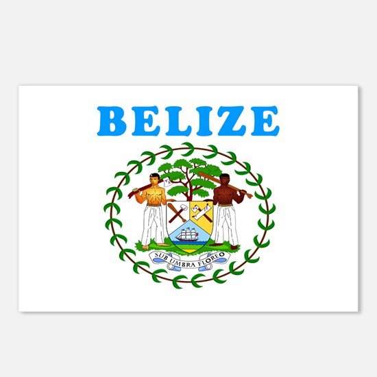 Belize Coat Of Arms Designs Postcards (Package of
