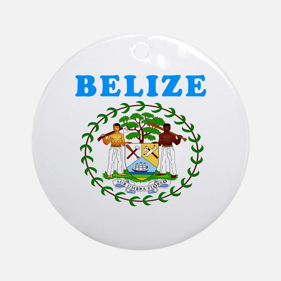 Belize Coat Of Arms Designs Ornament (Round)