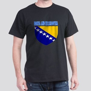 Bosnia and Herzegovina Coat Of Arms Designs Dark T