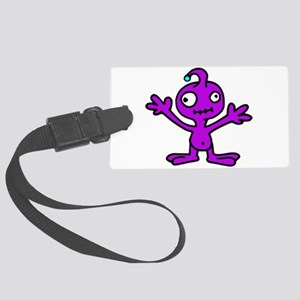 Space Alien Luggage Tag