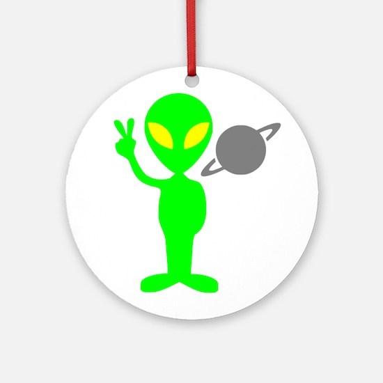 Space Alien Ornament (Round)