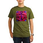 Anchors Away Ocean Badge Organic Men's T-Shirt (da