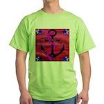 Anchors Away Ocean Badge Green T-Shirt