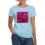Anchors Away Ocean Badge Women's Light T-Shirt