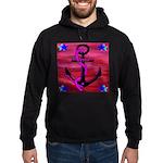 Anchors Away Ocean Badge Hoodie (dark)