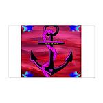 Anchors Away Ocean Badge 20x12 Wall Decal