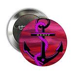 """Anchors Away Ocean Badge 2.25"""" Button (100 pa"""