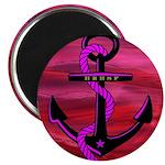 """Anchors Away Ocean Badge 2.25"""" Magnet (100 pa"""