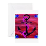 Anchors Away Ocean Badge Greeting Cards (Pk of 20)