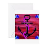 Anchors Away Ocean Badge Greeting Cards (Pk of 10)