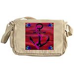 Anchors Away Ocean Badge Messenger Bag