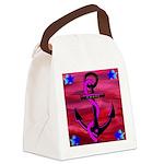 Anchors Away Ocean Badge Canvas Lunch Bag