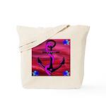 Anchors Away Ocean Badge Tote Bag
