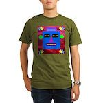 Robot Island Chief Head Organic Men's T-Shirt (dar