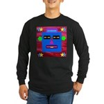 Robot Island Chief Head Long Sleeve Dark T-Shirt